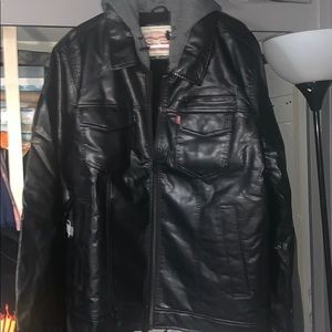 Brand new men's faux leather motorcycle jacket